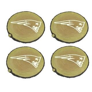 New England Patriots Set of 4 Glow In the Dark Tree Stump Stepping Stones - TAN