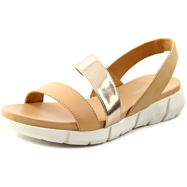 Calvin Klein Winny Open-Toe Leather Slingback Sandal