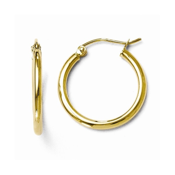 10k Gold Polished Hinged Hoop Earrings
