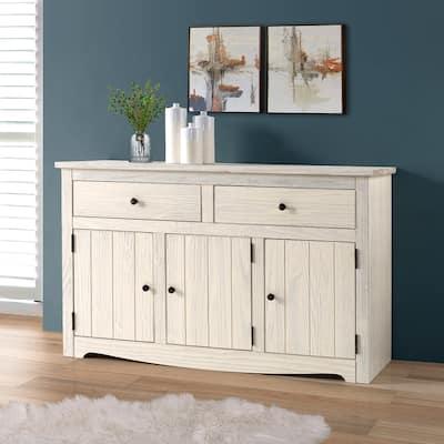 Wood Buffet Sideboard White Distressed | Furniture Dash