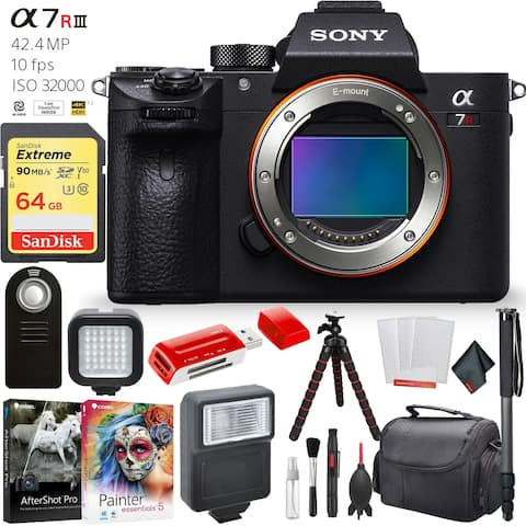 Sony a7R III 42.4MP Full-Frame Mirrorless Interchangeable Lens Camera Accessory Combo