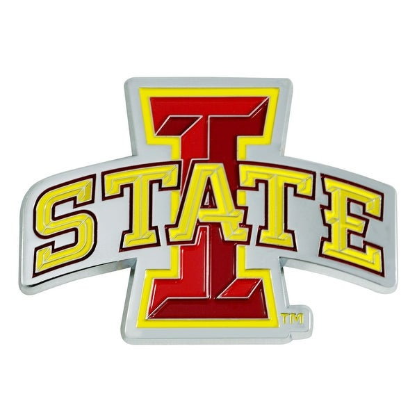 """3"""" Red and Yellow NCAA Iowa State Cyclones 3D Emblem - N/A"""
