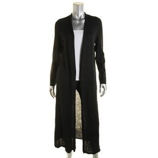 Eileen Fisher Womens Wool Open Front Cardigan Sweater - S