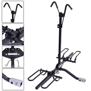 Costway 2 Bike Carrier Platform Hitch Rack Bicycle Rider Mount Sport Fold Receiver 2''