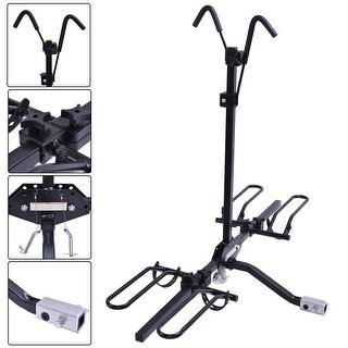 Costway 2 Bike Carrier Platform Hitch Rack Bicycle Rider Mount Sport Fold Receiver 2''