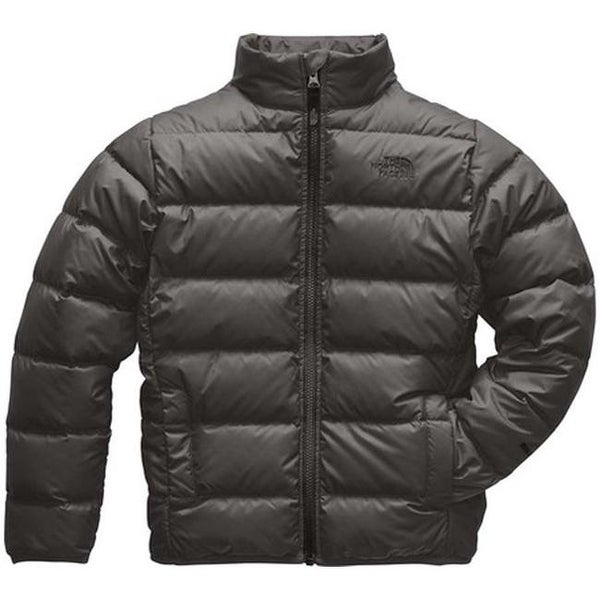 47d31790da6c32 Shop The North Face Boys  Andes Jacket Graphite Grey TNF Black - Free  Shipping Today - Overstock - 26477827