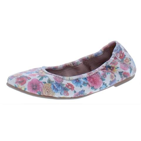 Minnetonka Womens Anna Ballerina Ballet Flats Floral Print Slip On - Bloom