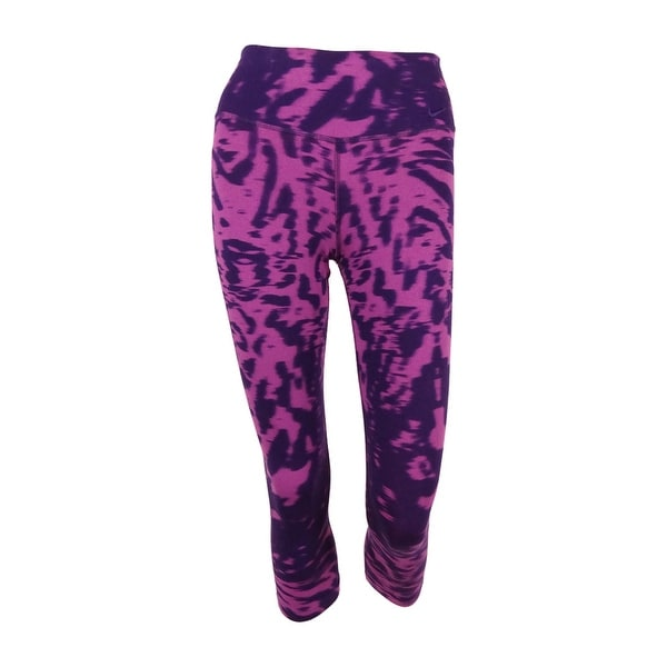 abfcfa4f3a Shop Nike Women's Legend Dri-Fit Cotton Filter Tight Fit Capri Leggings -  Purple - Free Shipping On Orders Over $45 - Overstock - 16122151