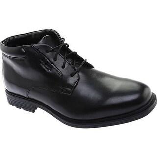 Rockport Men's Essential Details Waterproof Chukka Boot Black Full Grain Leather