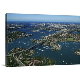 """""""Aerial view of Sydney, New South Wales, Australia"""" Canvas Wall Art"""