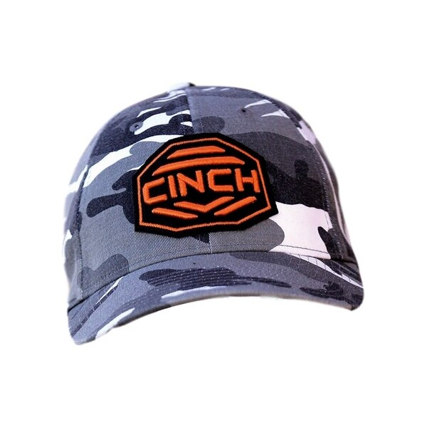 32b8dfa5566b1 Shop Cinch Western Hat Boys Kids Baseball Cap FlexFit Camo Black MCC0697701  - Free Shipping On Orders Over  45 - Overstock - 16605708