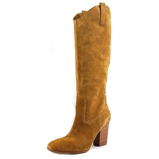 Sigerson Morrison Danice Round Toe Suede Knee High Boot
