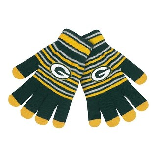 Green Bay Packers Stripe Knit Gloves