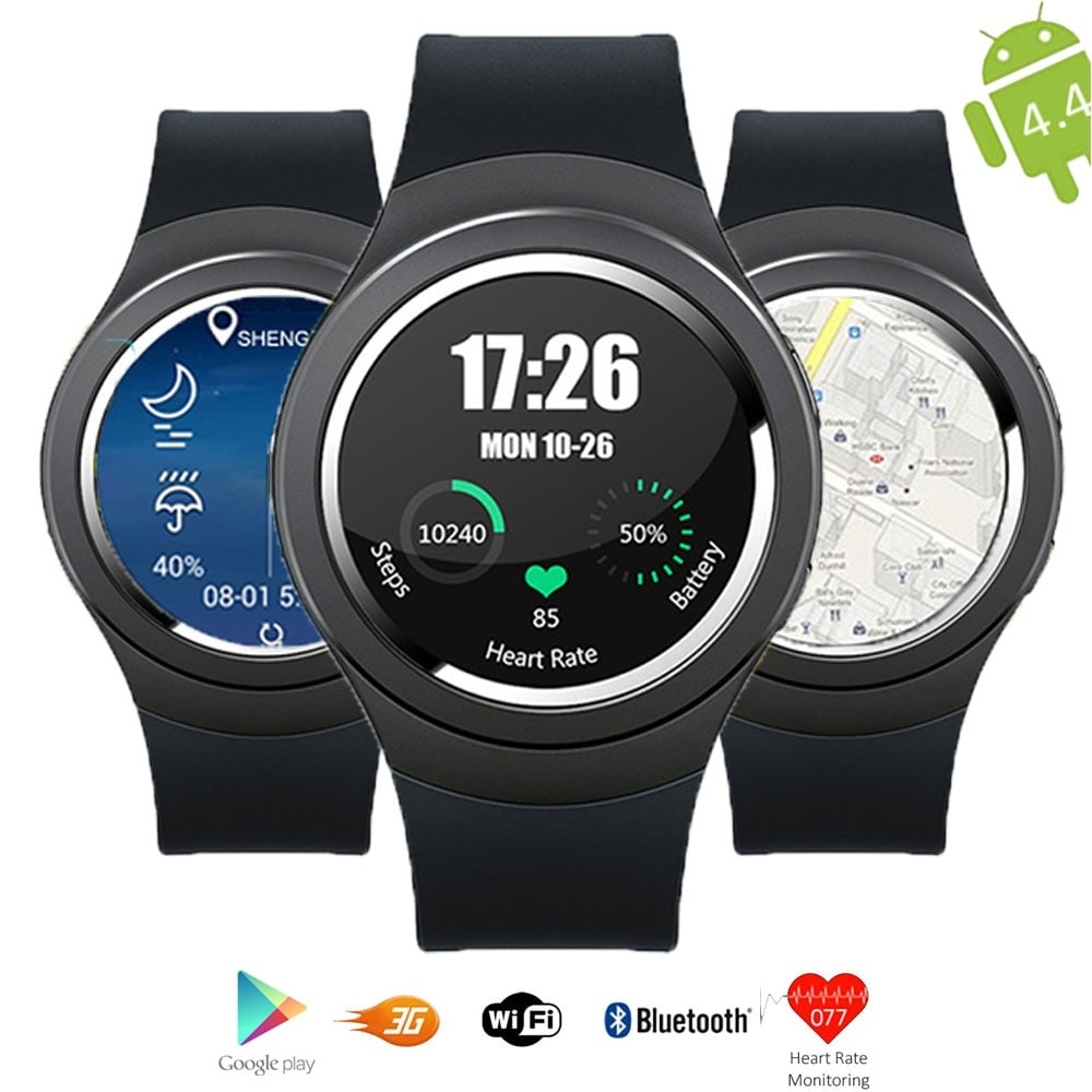Indigi® A6 Bluetooth 4.0 SmartWatch & Phone - Android 4.4 OS + Pedometer + Heart Monitor + WiFi + GPS (Unlocked) - Thumbnail 0