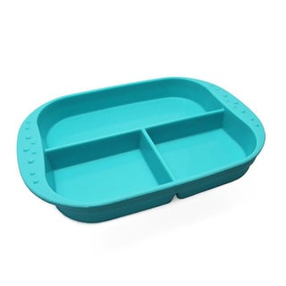 KinderVille Silicone Divided Plates For Kids And Toddlers (Option: Blue)