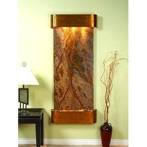 Adagio Inspiration Falls Wall Fountain Rainforest Brown Marble Rustic Copper - I