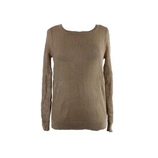 Michael Michael Kors Gold Metallic Mesh Sweater M