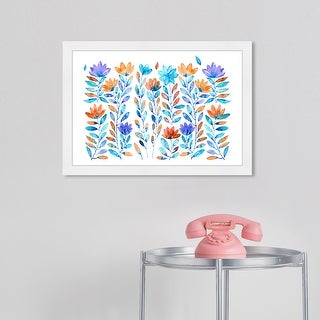 Link to Wynwood Studio Prints 'Drops and Flowers' Floral and Botanical Purple Framed Wall Art Print Similar Items in Accent Lamps