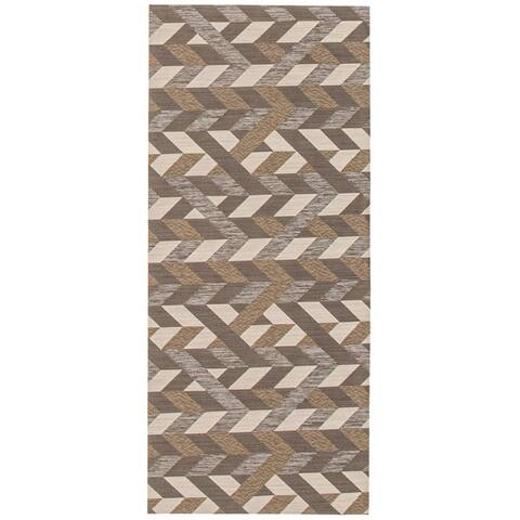 ECARPETGALLERY Bellisima Casual Dark Brown Rug