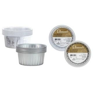 "2 1/2"" Decorative Mini Round Aluminum Baking Pans - Silver - Hanna"