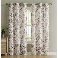 Sandra 2-Pack Leaf Printed Grommet Panels, 76x84 Inches - N/A