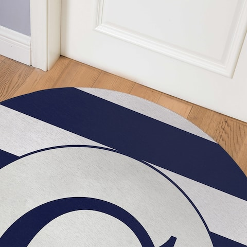 MONO NAVY STRIPED C Indoor Floor Mat By Kavka Designs
