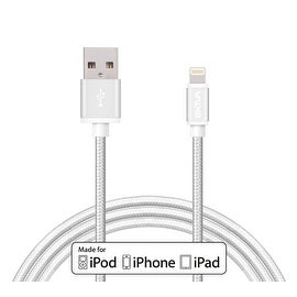 Skiva USBLink (3.2 ft / 1m) Braided Apple MFi Certified 8-pin Lightning Sync and Charge Cable for iPhone 6s plus SE, iPad Air