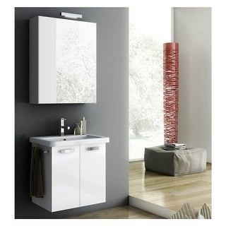 "Nameeks CP05 ACF 22"" Wall Mounted Vanity Set with Wood Cabinet, Ceramic Top with 1 Sink - less Mirror"
