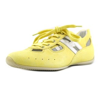 Hogan SPRINT BUCATA + Ling Round Toe Leather Sneakers