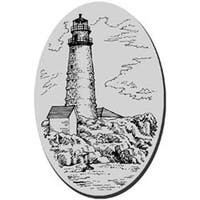 """Boston Lighthouse - Stampendous Cling Rubber Stamp 3.5""""X4"""" Sheet"""