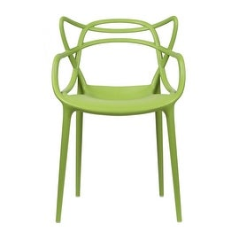 2xhome - Dining Room Chair - Green - Modern Contemporary Designer Arm Chair Modern Stacking Dining Chair