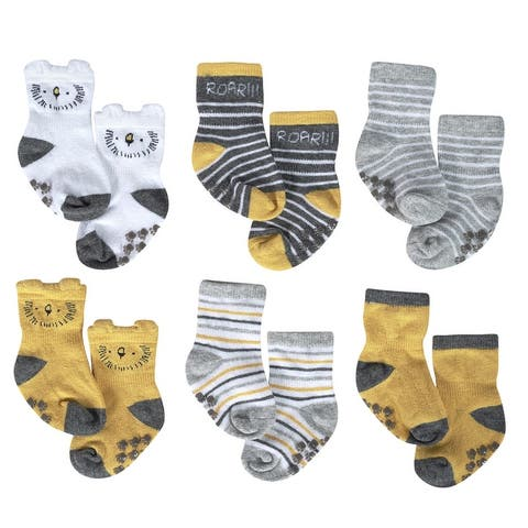 Just Born® Baby Boys' 6-Pack Lil' Lion Wiggle Proof Socks