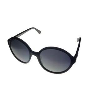 Kenneth Cole New York Sunglass Modified Round Black, Smoke Lens KC7117 1B - Medium