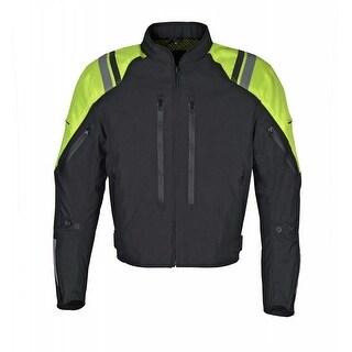 Men Motorcycle Waterproof Textile Jacket Yellow MBJ057-1
