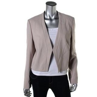 BOSS Hugo Boss Womens Cropped Open Front Collarless Blazer - 2