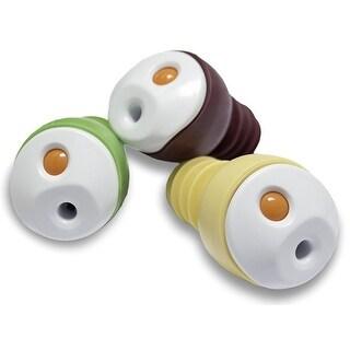 Oliso Pro 50003001 Wine and Oil Freshkeeper Bottle Sealers, Set of 3, Multi Color
