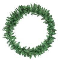 """31"""" Buffalo Fir Artificial Christmas Decorators Wreath - Unlit - green"""