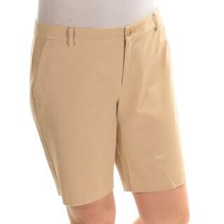 RALPH LAUREN $69 Womens New 1377 Beige Bermuda Casual Short 14 Petites B+B