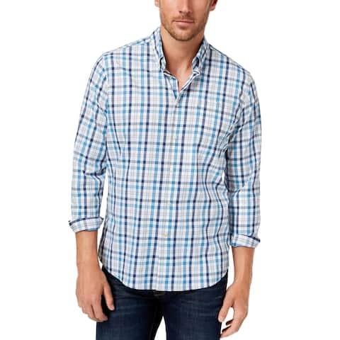 Barbour Mens Performance Button Down Tailored Fit Shirt