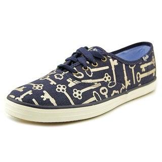 Keds CH TS Key Women Round Toe Canvas Blue Sneakers