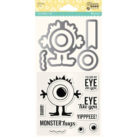 Jillibean Soup Shaker Clear Stamps & Die Set-Monster
