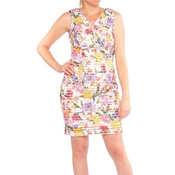 0862c5af62b Shop Thalia Sodi Floral Print Sheath Dress Women Regular Casual Dress -  Free Shipping On Orders Over  45 - Overstock - 18287398