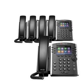 """Polycom VVX 400 (5-Pack) 12-line Mid-Range Business Media Phone with Color Display"""