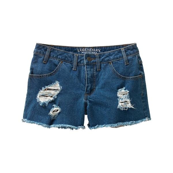Legendary Whitetails Ladies Dirt Road Cutoff Shorts - INDIGO