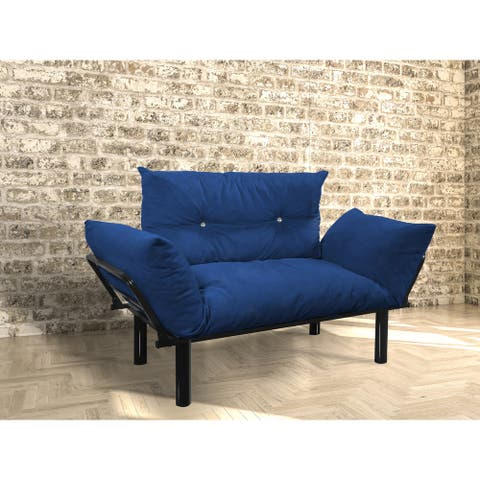 Extra-wide Modern Loveseat with Metal Legs