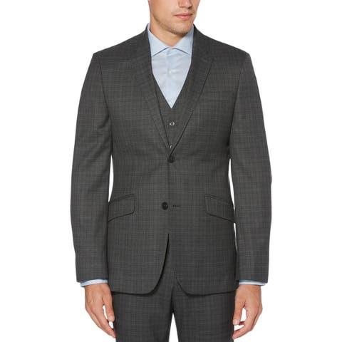 Perry Ellis Mens Principles Sportcoat Plaid Slim Fit - 44R