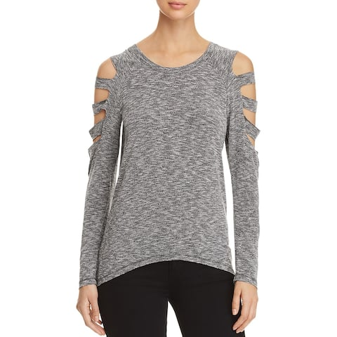 Elan Womens Pullover Top Cut-Out Long Sleeves - S
