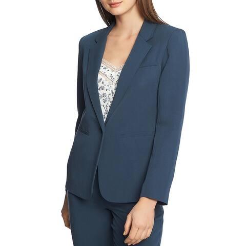 1.State Womens One-Button Blazer Notch Collar Career - Midnight Sky