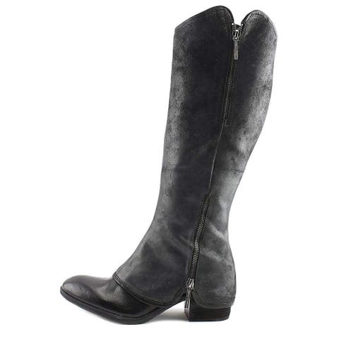 Donald J Pliner Womens Devi Suede Western Over-The-Knee Boots