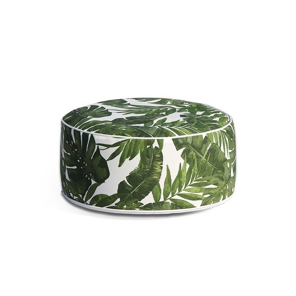 OVE Decors Marlowe Tropical Green Ottoman